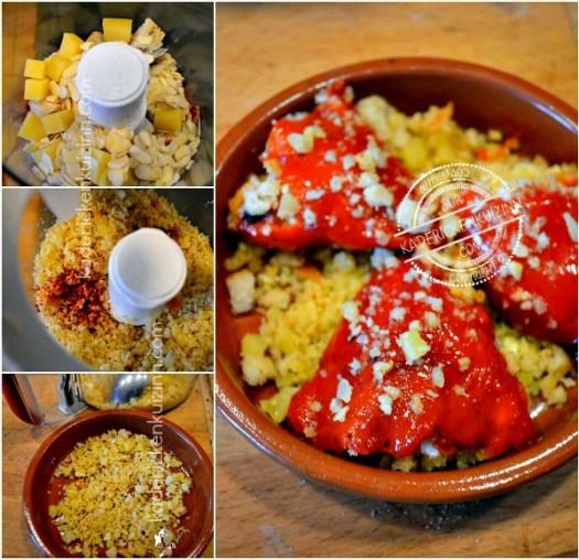Préparation poivrons farcis ou recette piquillos farcis de crumble salé - Kaderick en Kuizinn