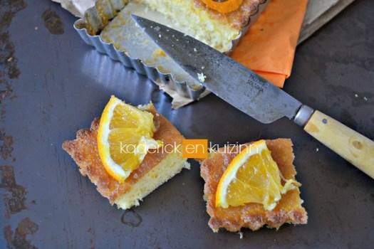 Préparation ultra moelleux à l'orange, amande et imbibé de sirop à l'orange - Kaderick en Kuizinn