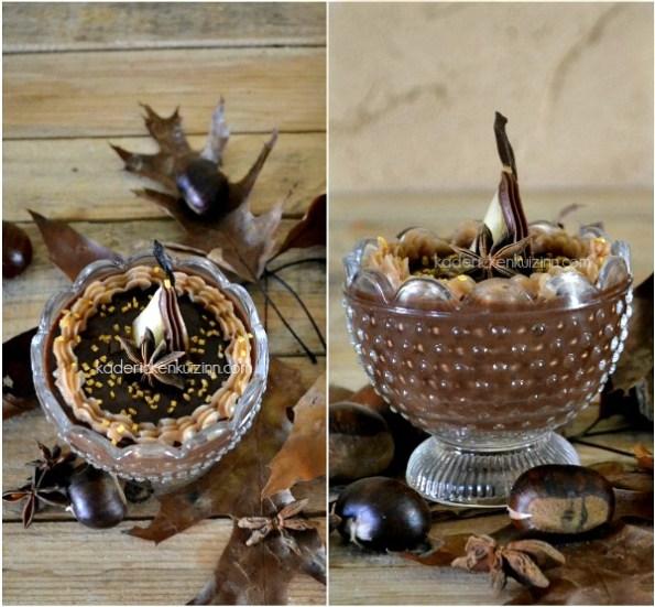 Présentation chocolat poire - Panna cotta au chocolat et poire pochée