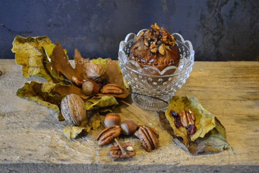 Recette pomme au four crumble aux noix, pécan et sirop d'érable - Kaderick en Kuizinn