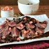 Slider Recette plancha boeuf dessus palette sauce forestière
