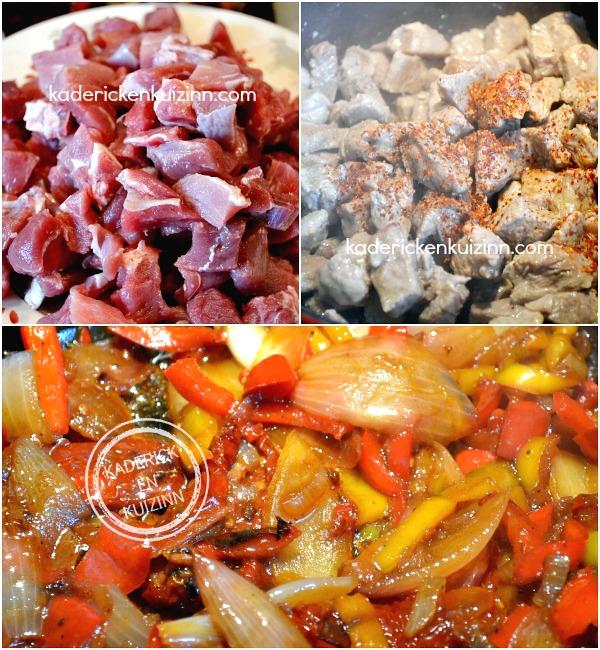 Cuisson Axoa - Recette ragoût de veau pays basque cocotte chez Kaderick en Kuizinn