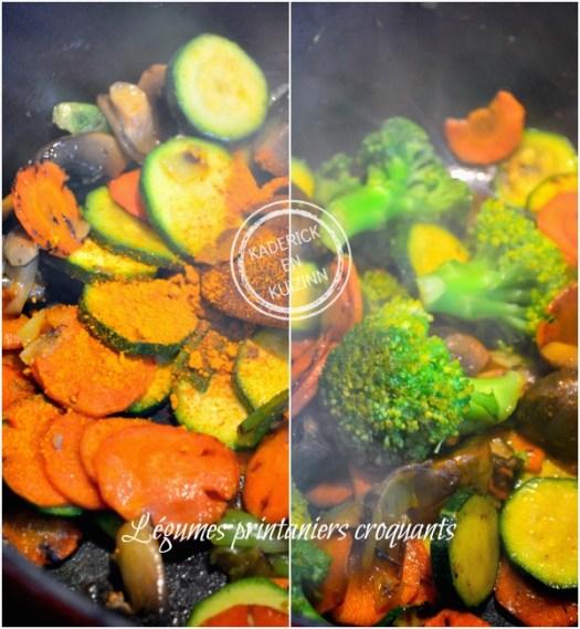 Cuisson cocotte poisson - Roussette légumes et curcuma chez Kaderick en Kuizinn