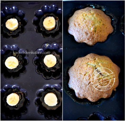 Préparation muffins banane - Recette muffins tatin banane coco chez Kaderick en Kuizinn