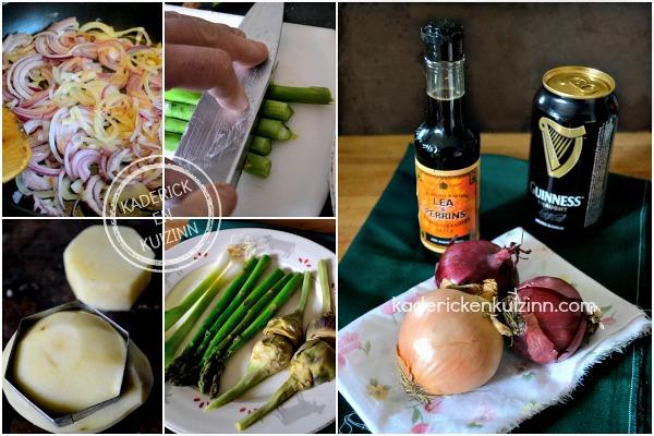 Preparation legumes cote plancha - Côte boeuf plancha sauce Guinness chez Kaderick en Kuizinn