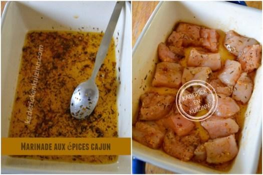 Recette marinade épices cajun - Dossier marinade et plancha côte boeuf chez Kaderick en Kuizinn