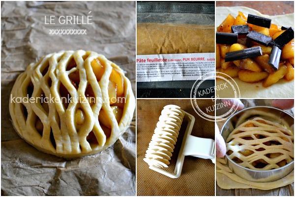 Préparation tartelette poires - Le grillé aux poires et chocolat chez Kaderick en Kuizinn