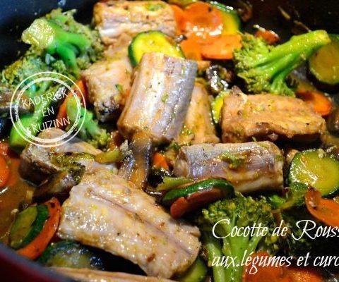 Recette Cocotte poisson - Roussette légumes et curcuma chez Kaderick en Kuizinn