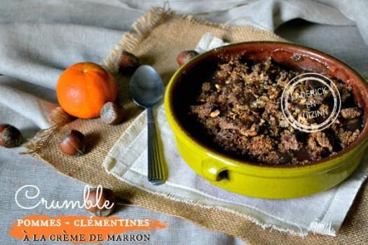 Recette crumble corse pommes clémentines à la crème de marron chez Kaderick en Kuizinn