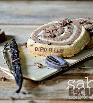 Recette sables escargots - Sablés vanille chocolat Michalak de Kaderick en Kuizinn