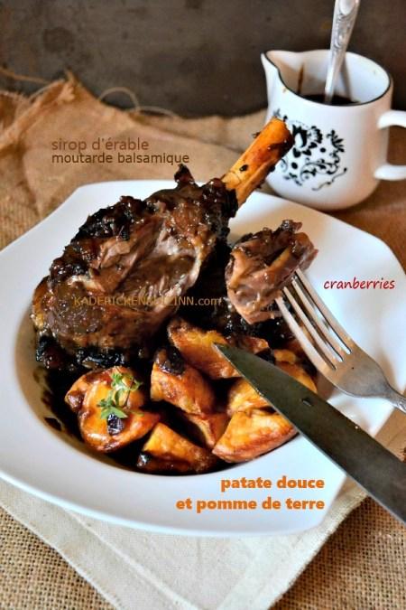 Dégustation Paques agneau - Recette Souris agneau confite sirop d'érable