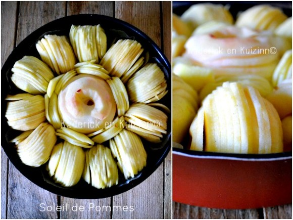 Montage gateau pommes - Moelleux aux pommes façon tatin chez Kaderick en Kuizinn©