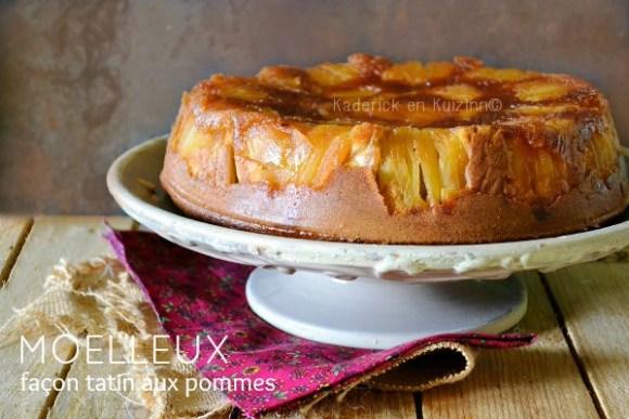 Recette gateau pommes - Moelleux aux pommes façon tatin chez Kaderick en Kuizinn©