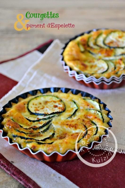 Dégustation quiche courgette - Quiche sans pâte courgette piment chez Kaderick en Kuizinn©