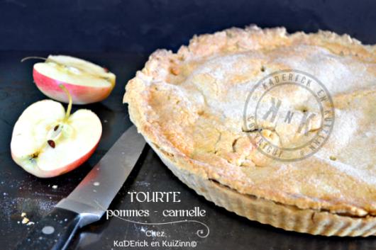 Recette tourte pommes - Recette tourte pommes cannelle chez Kaderick en Kuizinn©