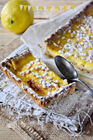 Dégustation torta di limone - Recette tarte citron et pignons de pin chez Kaderick