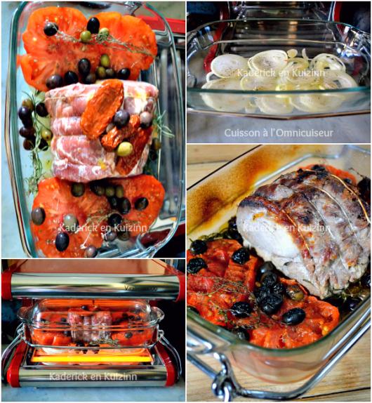 Temps de cuisson recette roti - Tomates provençales roti porc à l'Omnicuiseur chez Kaderick