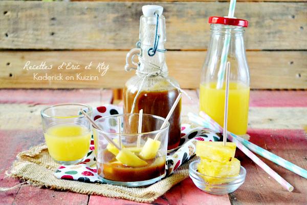 Caramel recette - Caramel au beurre salé à l'ananas chez Kaderick en Kuizinn