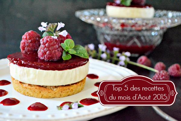 Aout 2015 - Top 5 des recettes du mois d'Aout 2015 chez Kaderick en Kuizinn