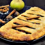 Recette chausson géant aux pommes, vanille, marrons glacés et cannelle