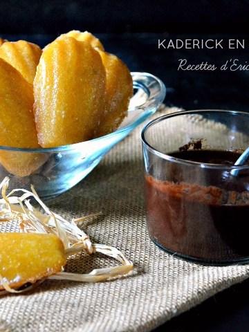 Recette madeleines glacées citron miel vanille de Michalak