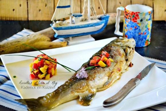 Cuisson plancha recette omble chevalier en cuisson plancha et salsa à la mangue