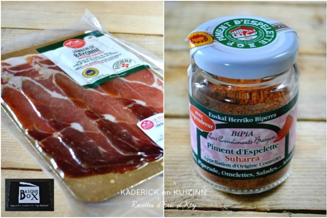 Basque box jambon bayonne et piment d'Espelette AOP