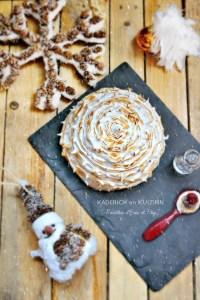 Dome buche Noël 2015 meringuée crème chocolat insert framboise