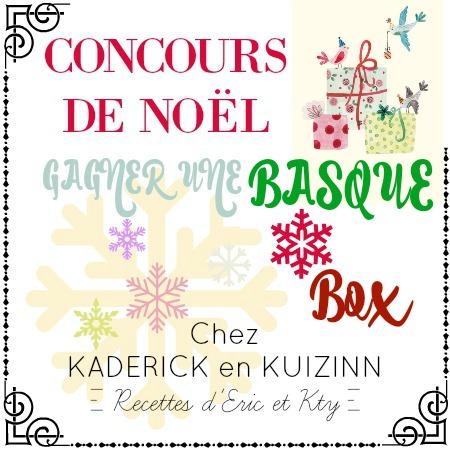résultat du concours - Gagner une Basque box au concours de Noël chez Kaderick