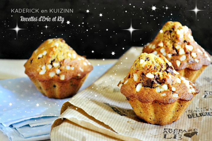 Madeleine muffins vanille pépites chocolat moule Demarle