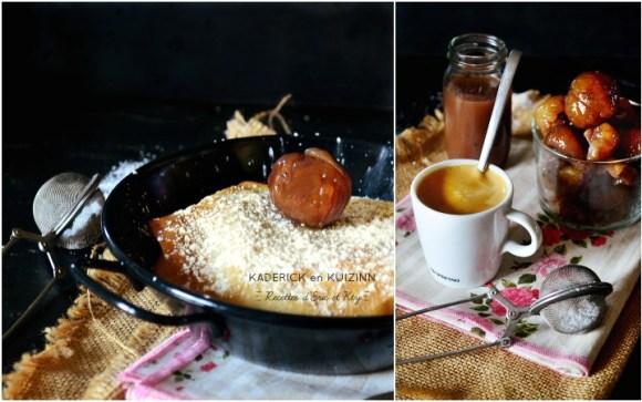 Pastilla pommes marrons glacés fait maison servi d'un café au gouter