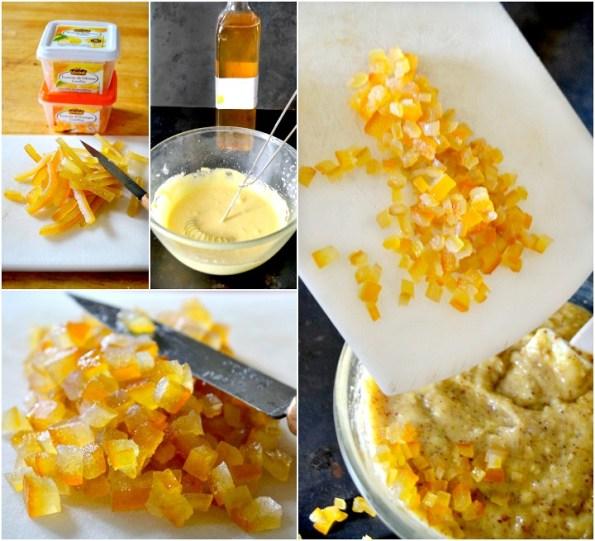 Écorces d'oranges et citrons confits crème frangipane amande et citron sur Kaderick en Kuizinn