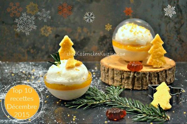 Top 10 Décembre 2015 boule neige panna cotta clémentine