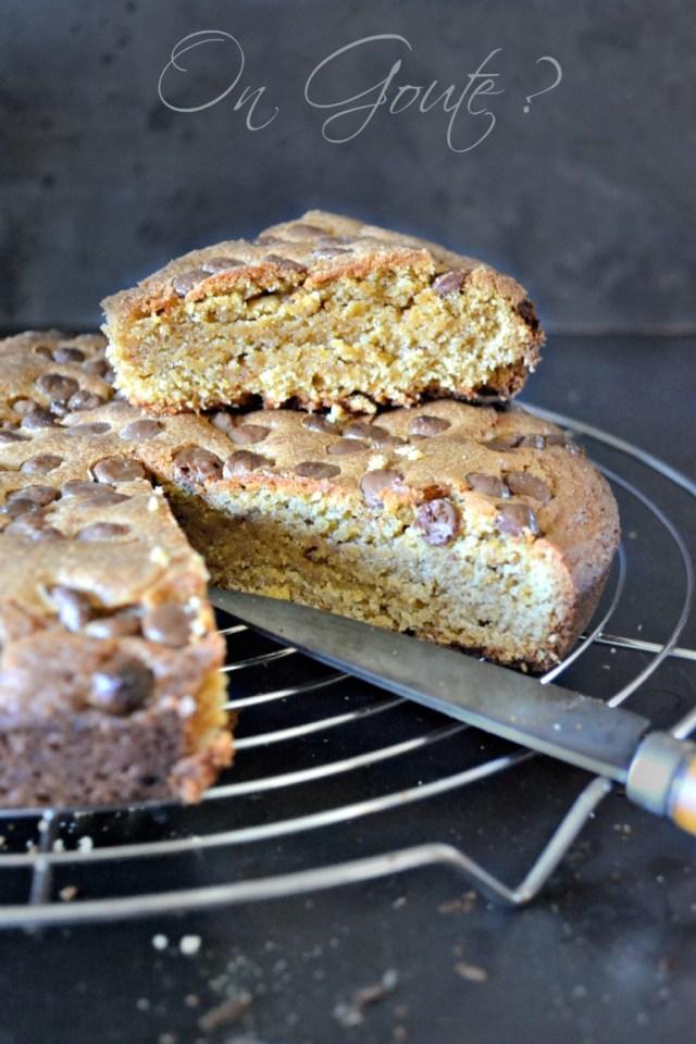 gâteau cookies noisette pépites chocolat lait
