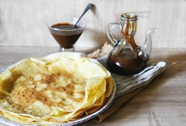 Caramel beurre salé chocolat gianduja crêpes maison