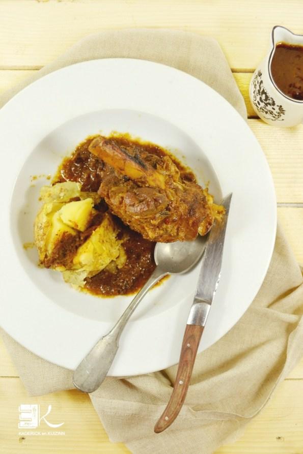 Pâques recette souris agneau braisée vin rouge tomate sur Kaderick en Kuizinn