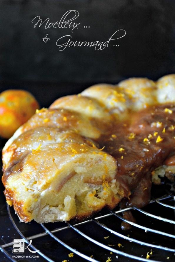 Part gâteau pudding pommes caramel clémentine