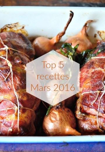Logo photo top 5 recettes mois mars 2016 - Kaderick en Kuizinn