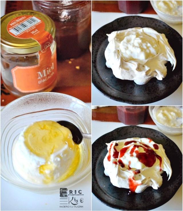 Montage recette pavlova aux fruits rouges | Kaderick en Kuizinn