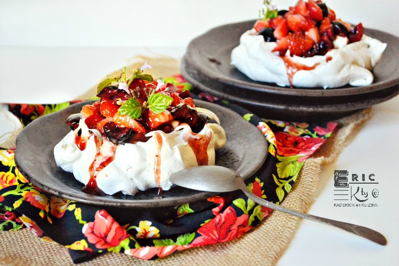 Recette pavlova fruits rouges   Kaderick en Kuizinn