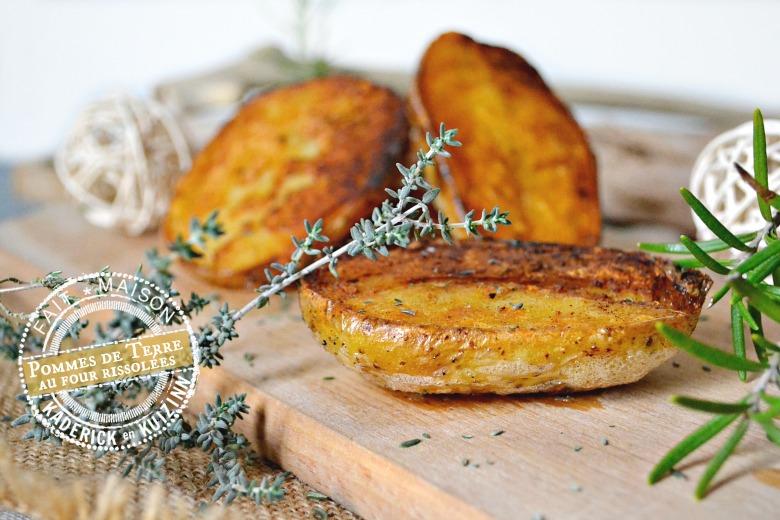 Pommes de terre au four rissolées thym et romarin   Kaderick en Kuizinn
