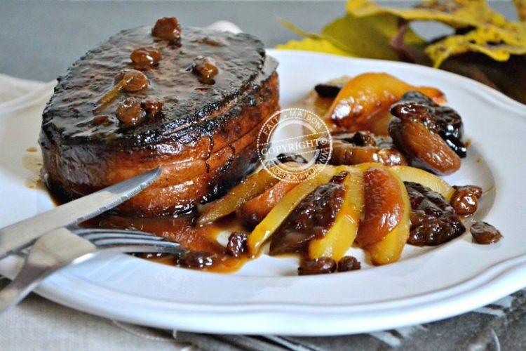 Rôti plancha tournedos de bœuf gascon poires sautées recette fêtes