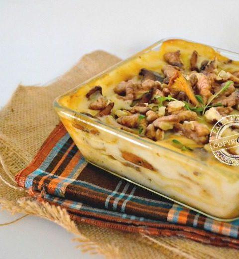 lasagne fraîche aux cépes, girolles et noix