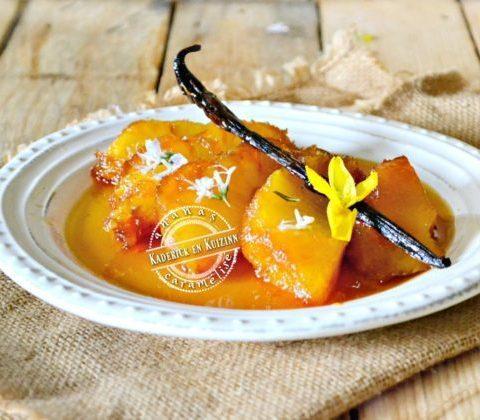 Recette ananas roti entier caramélisé vanille romarin | Kaderick en Kuizinn
