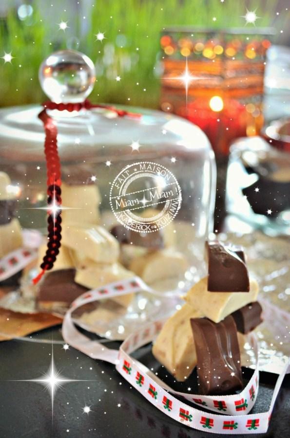 Recette chocolats de Noël - chocolat lait et blanc aux spéculoos