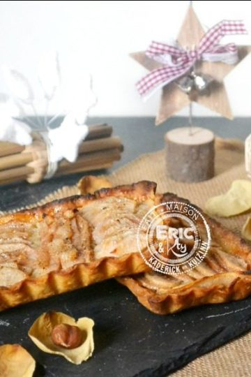 Image a la une - Tartelettes aux poires à la crème de noisettes et oranges