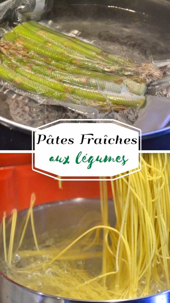 Cuisson spaghetti frais aux asperges vertes sous-vide