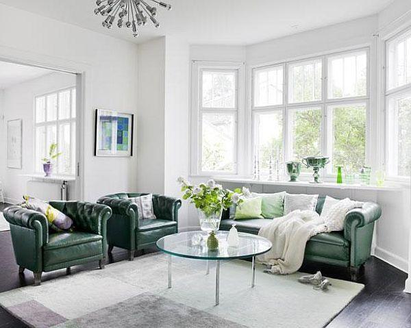 chesterfield sofa living room ideas sealy leather sectional yeşil deri koltuk takımı oturma grubu