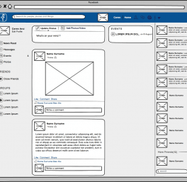 Facebook Wireframe