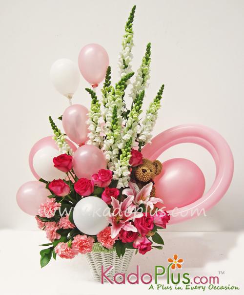 Rangkaian Balon  Bunga Bayi Balloons  More 4  Kadopluscom